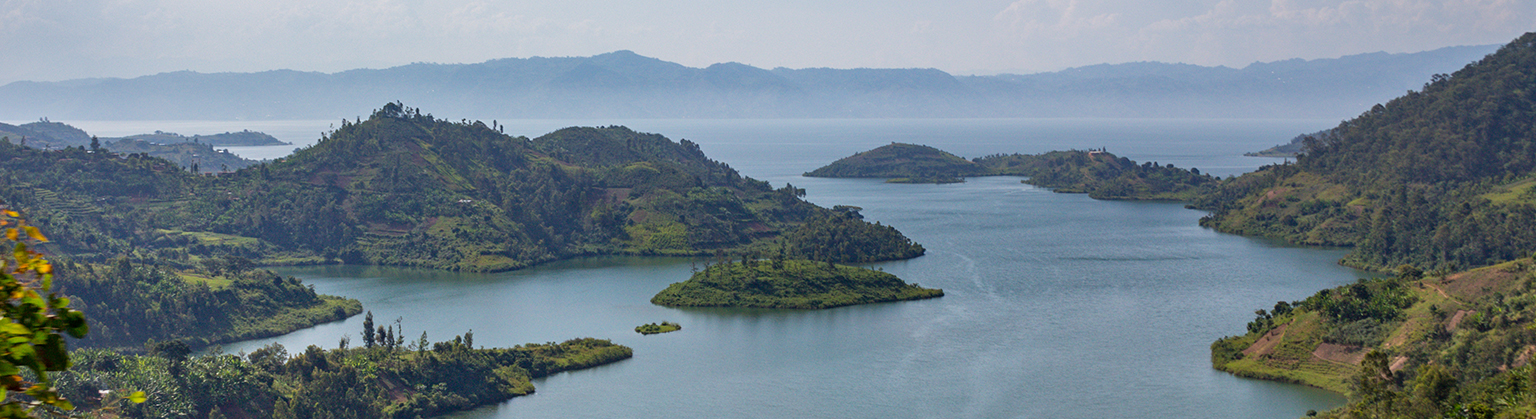 A view of Lake Kivu in incredible Rwanda